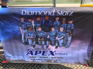 Proud Sponsor of Diamond Starz youth baseball team