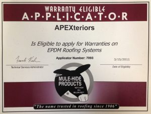 Warranty eligible applicator