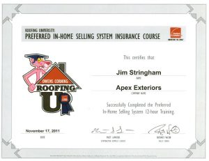Preferred in-home selling system insurance course